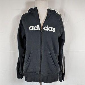 Adidas Black Zippered Hoodie